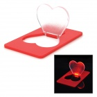 Heart Shape Red LED Light Card for Valentine's Day - Red