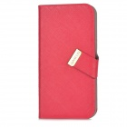 BASEUS LTAPIPH5-XY09 Flip-Open PU Leather Case w/ Stand / Dust-Proof Plug for Iphone 5 - Red