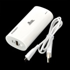 PISEN TS-UC024 4400mAh Portable Emergency Mobile Power Battery Charger for Iphone + More - Black