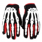PRO-BIKER CE04 Skeleton Breathable Full Finger Motorcycle Racing Gloves - White (Size-M / Pair)