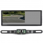 AC-7009 340 7'' LCD monitor do carro retrovisor + Camera w / 7-LED Night Vision IR - Black
