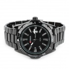 CURREN 8110 Men's Tungsten Steel Band Quartz Wrist Watch w/ Calendar - Black (1 x 626)