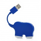 HAPTIME MKUSH-2 Elephant Shape 480Mbps High Speed USB 2.0 4-Port HUB - Blue
