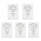 MP078 DIY Crystal Flower Reflective Car Decorative Stickers - Silver (5 PCS)