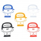 SAYEAH Small Boy Figure Motorcycle Reflective Sticker Decal (5 PCS)