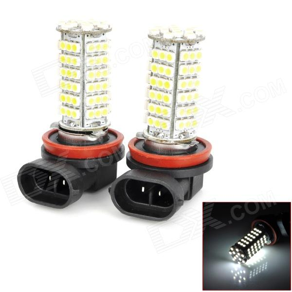 D12120402X H11 5.5W 510lm 102-SMD 1210 LED White Light Car Foglight - (DC 12V / 2 PCS) h1 4w 220lm 68 smd 1210 led warm white light car foglight headlamp tail light 12v