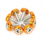 DIY 6mm Hotwheels Style Motorcycle Mounting Screws - Orange (8 PCS) 