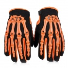 PRO-BIKER CE04 Skeleton Breathable Full Finger Motorcycle Racing Gloves - Orange (Size-XL / Pair)