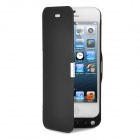 3.7V 2400mAh External Mobile Li-ion Polymer Battery Pack w/ Stand Holder for iPhone 5 - Black