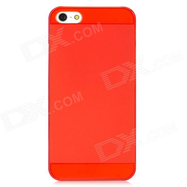 IPSKY Protective PC Back Case for Iphone 5 / 5s - Transparent Red elegance tpu pc hybrid back case with kickstand for iphone 7 plus 5 5 inch red