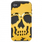Detachable Skull Style Protective Back Case for Iphone 4 / Iphone 4S - Golden + Black