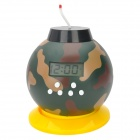 Kreative 2-in-1 1.8'' LCD Bomb Stil Wecker Coin Bank - Camouflage (3 x AA)