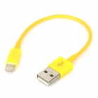 USB Datenkabel / Ladekabel 8-Pin Blitz-Kabel für iPhone 5 - Yellow (11cm)