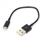 USB Datenkabel / Ladekabel 8-Pin Blitz-Kabel für iPhone 5 - Black (11cm)