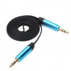 3.5mm Male to 3.5mm Male Audio Connection Cable - Black + Blue (110cm)