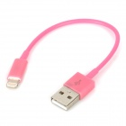 USB Datenkabel / Ladekabel 8-Pin Blitz-Kabel für iPhone 5 - Pink (11cm)