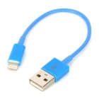 USB Datenkabel / Ladekabel 8-Pin Blitz-Kabel für iPhone 5 - Blau (11cm)