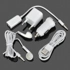 AC Power + Car Charger Adapters + Earbuds + USB to 8-Pin Lightning Cable for iPhone 5 - White