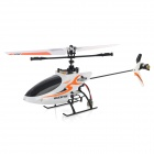 Great Wall Toy 9928 2.4GHz 4-CH Remote Control Helicopter w/ USB + Propeller - White + Orange