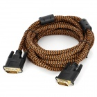 DVI 24+1 Male to Male Connection Cable - Tan + Black (510cm)