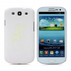 Cute Glow-in-the-Dark Elf Pattern Protective Plastic Back Case for Samsung i9300 / i9308 - White