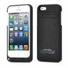 3.7V 2200mAh External Mobile Li-ion Polymer Battery Pack w/ Stand Holder for iPhone 5 - Black