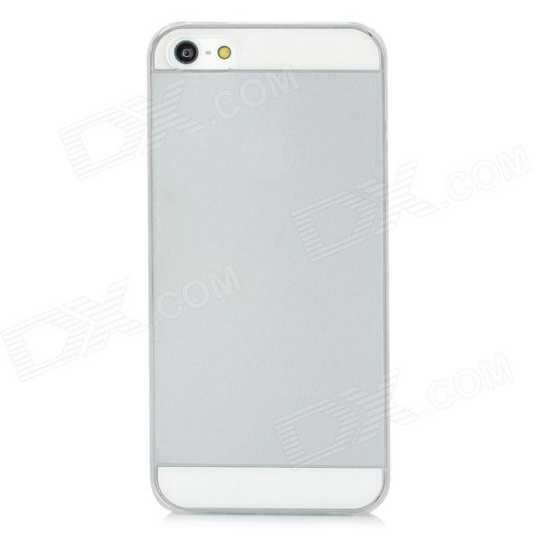 IPSKY 0.8mm Ultra-Thin Protective Frosted PC Back Case for Iphone 5 / 5s - White чехлы для телефонов hoco чехол силиконовый apple iphone 5 5s hoco thin frosted white