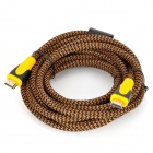 HDMI 1.3 Male to Male HD Connection Cable - Tan + Black + Yellow (500cm)