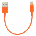 8-Pin Lightning Male to USB Male Data / Charging Cable for iPhone 5 - Orange Red (11cm)