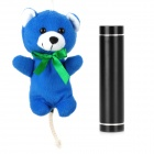 """2600mAh"" Mobile Power Battery Charger w / Cute Bear Shaped-Tasche für iPhone 5 - Black"