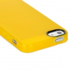 Protective Soft PVC Back Cover Case for Iphone 5 - Transparent Yellow