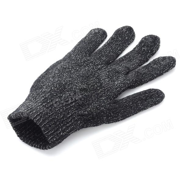 Stylish Capacitive Screen Hand Warmer Touching Touch Gloves - Black (2 PCS)