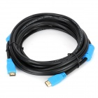 Millionwell Gold Plated HDMI Male to Male HD Connection Cable - Black + Blue (510CM)