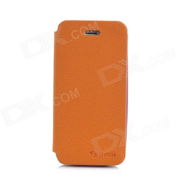 SAMDI Protective PU Leather Case for Iphone 5 - Orange ipega i5056 waterproof protective case for iphone 5 5s 5c orange yellow