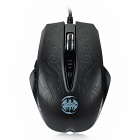 Gonwin X-B70 USB 2.0 800 / 1200 / 1600 / 2400dpi 6-Keys Optical Game Mouse - Black (150cm-Cable)