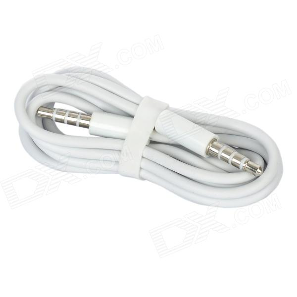 3.5mm Male to Male Stereo Audio Cable - White (120cm)