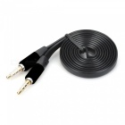 3.5mm Male to 3.5mm Male Audio Connection Cable - Black + Silver (110cm)