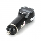CC1 2-in-1 Car MP3 Player FM Transmitter + Car Charger w/ 3.5mm M/M Cable - Black