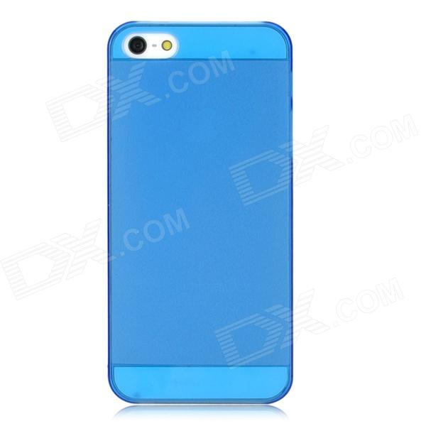 Protective Matte PC Back Case for Iphone 5 / 5s - Blue protective matte silicone case for iphone 5 5s dark blue white