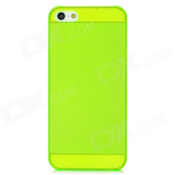 0.8mm Ultra-Thin Protective PC Matte Back Case for Iphone 5 / 5s - Fluorescent Green ultra thin protective tpu matte back case for iphone 5 iphone 5s white