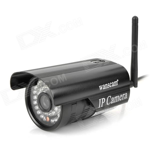 Wanscam JW0011 300KP Outdoor Wireless IP Network Camera w/ 36-LED IR Night Vision - Black (US Plug)