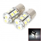 PointPurple D1112W 5W 300lm 2-LED + 10-SMD 5050 LED White Light Car Backup Light - (12V~17V / 2 PCS)
