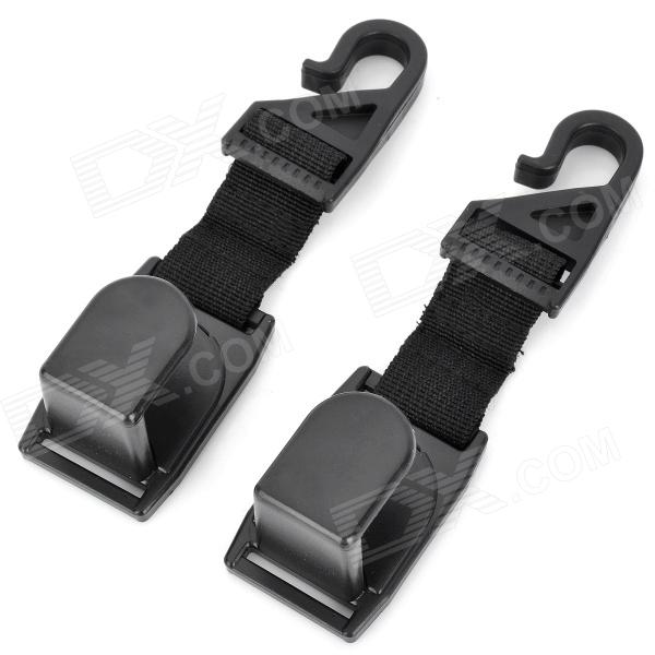 SHUNWEI SD-2504 Car Seat Headrest Hanging Hooks - Black (2 PCS)