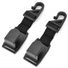 SHUNWEI Car Seat Headrest Hanging Hooks - Black (2 PCS)