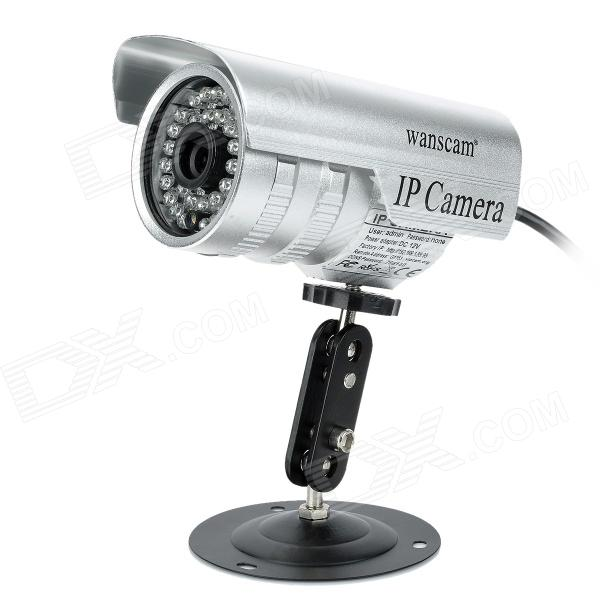 Wanscam JW0011 Free DDNS 0.3 MP CMOS Surveillance Security Wi-Fi Wireless IP Network Camera - Silver