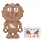 NATURALLY KIND S019 Cute PVC Lion Doll Toy - Coffee