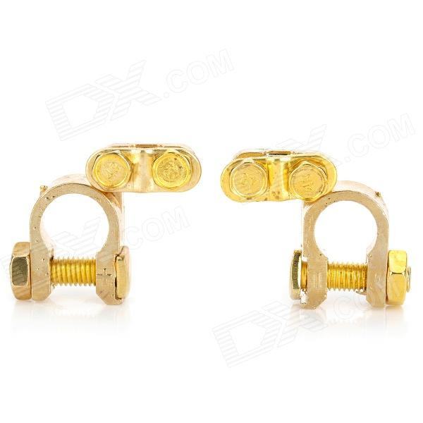 Copper Car Battery Terminals Clamps Connectors - Golden (2 PCS) moahmed ghoniem corrosion inhibitors for archaeological copper