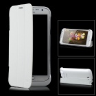 Rechargeable 4000mAh External Battery w/ Protective PU Cover for Samsung Galaxy Note 2 N7100 - White