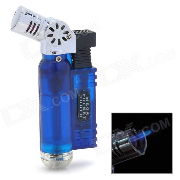 1300'C Blue Frame Butane Gas Windproof Lighter - Blue