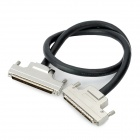SCSI 100-Pin Male to Male Connection Cable - Black + Silver (70cm)